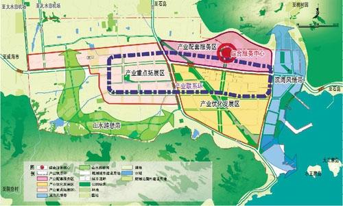 高新技术产业园空间发展及建设控制规划空间结构图