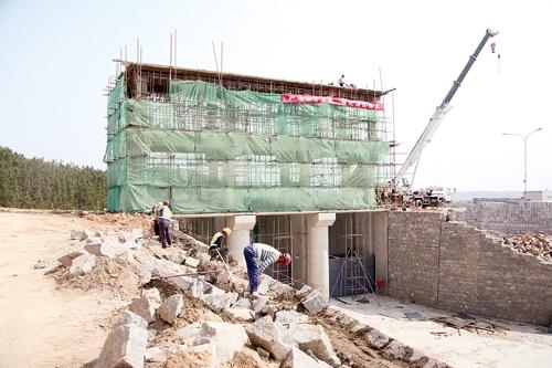 逍遥水库增容工程主体月底完工